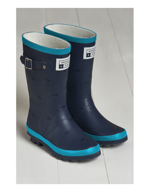 GRASS & AIR - Junior Wellies Turquoise