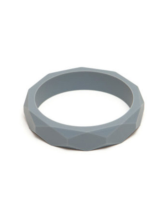 LARA AND OLLLIE - Bracelet Silicone Bangle Grey