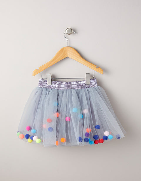 Pom Pom Tutu - Grey - Little Sister