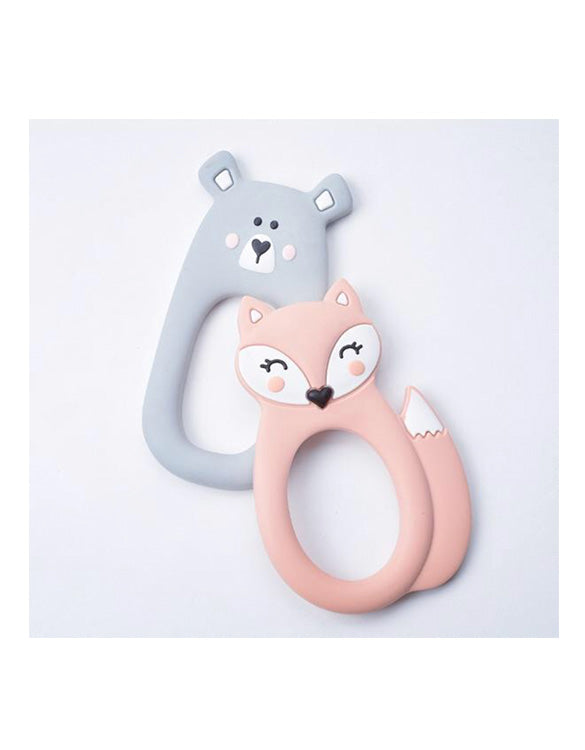 MAMA KNOWS - Fox Teether - Peach