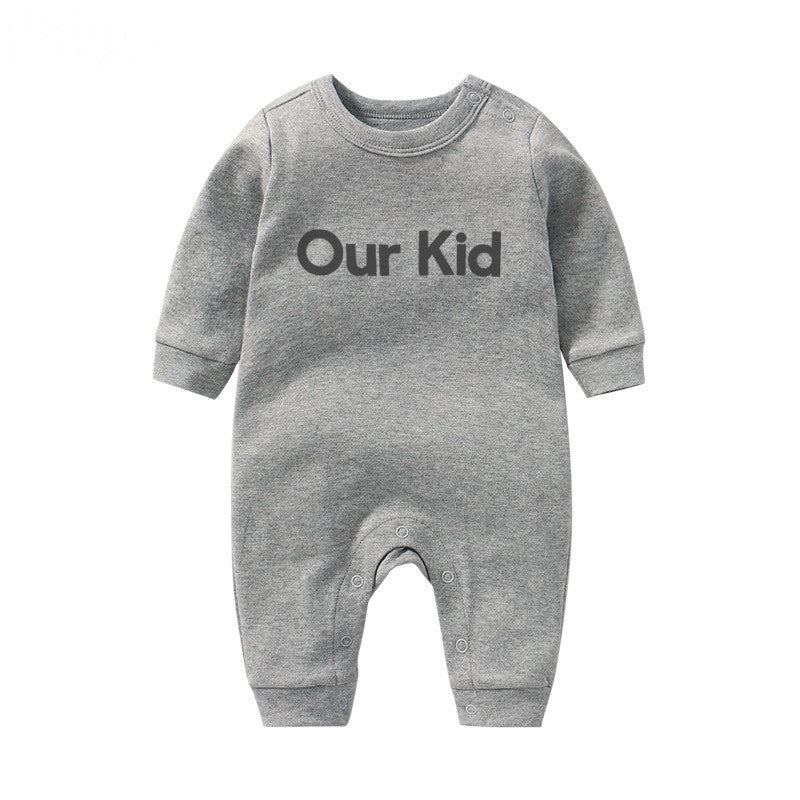 Our Kid Slogan Babygrow in Grey