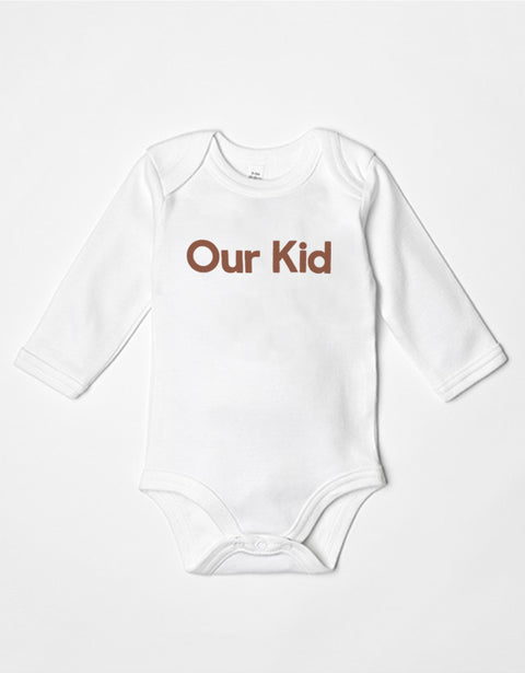 OUR KID - Slogan White Body Long Sleeve