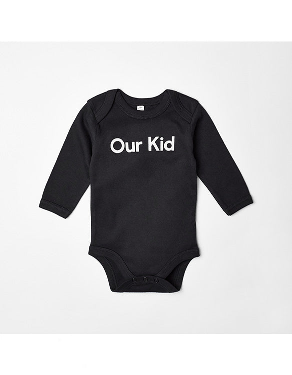 OUR KID - Slogan Black Body with Long Sleeves