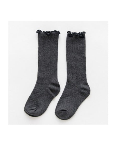 LITTLE SISTER - Charcoal Grey Knee High Socks