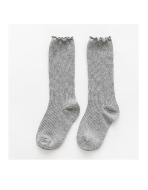 LITTLE SISTER - Pale Grey Knee High Socks