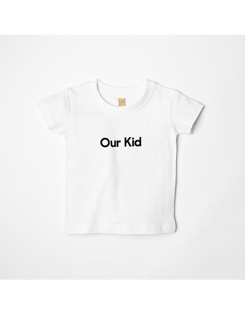 OUR KID T-SHIRT - White Slogan T-shirt