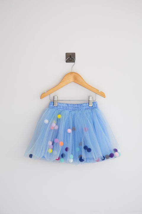 Pom Pom Tutu - Blue - Little Sister