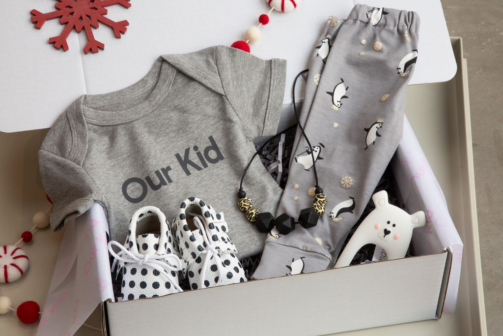Our Kid Luxury Christmas Gift Box with all Trimmings Gift Box for Baby