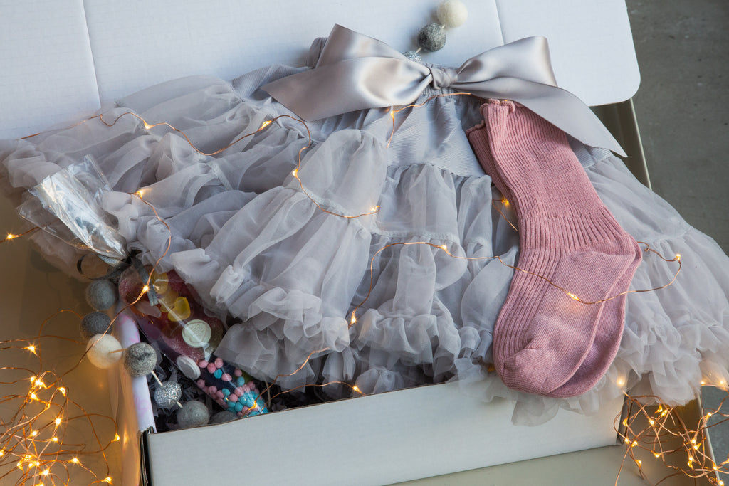 Our Kid Pale Grey Tutu Gift Box - Party Kid