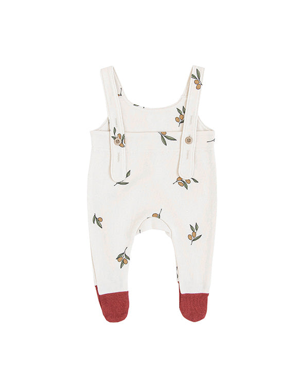 ORGANIC ZOO - Salopettes Suit with Contrast Feet - Olive Garden