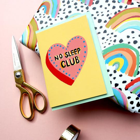 Eleanor Bowmer: No Sleep Club Card