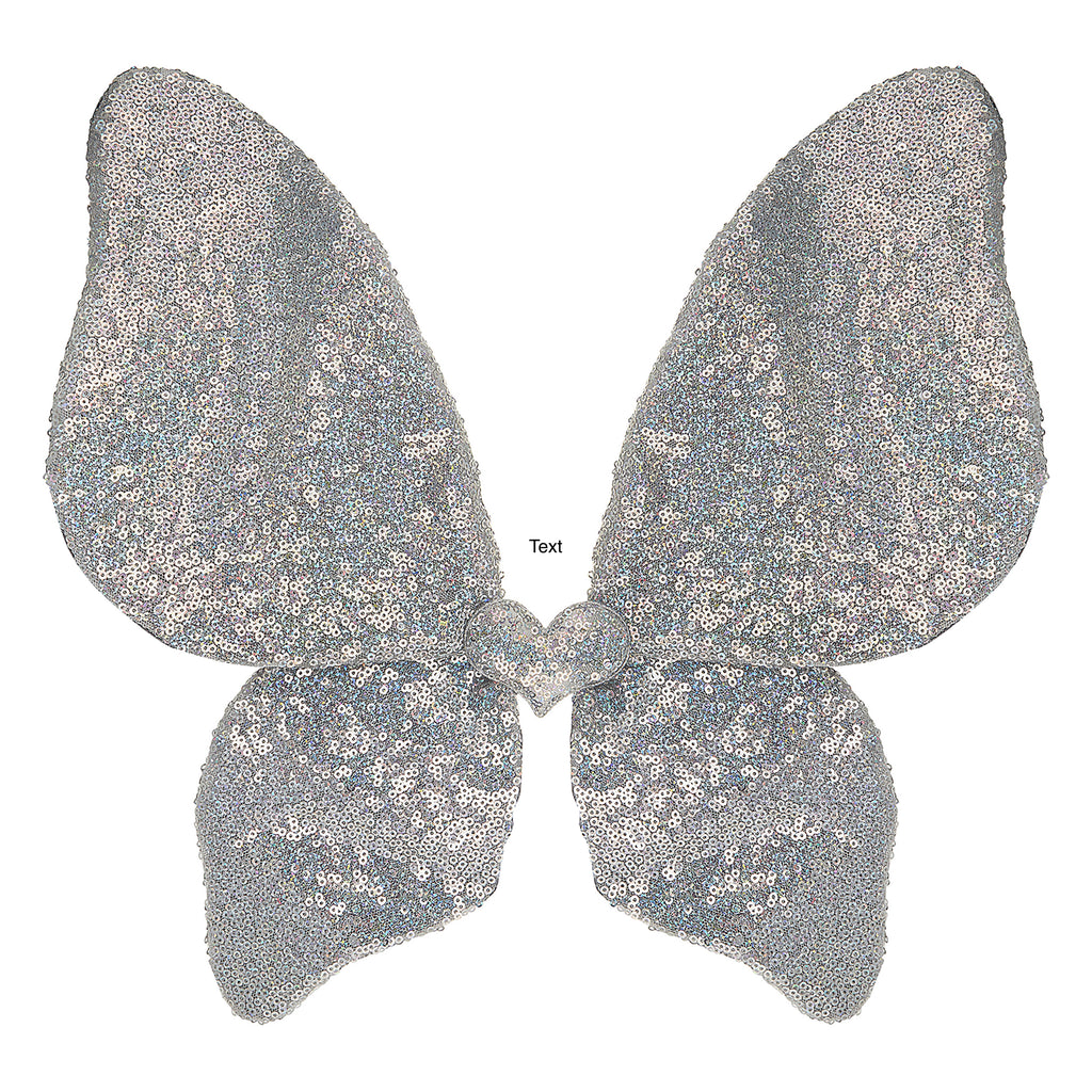 MIMI & LULA - Silver Sparkle sequin wings