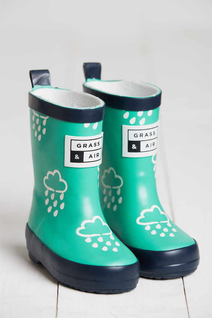 GRASS & AIR - Infant Colour Changing Wellies Green