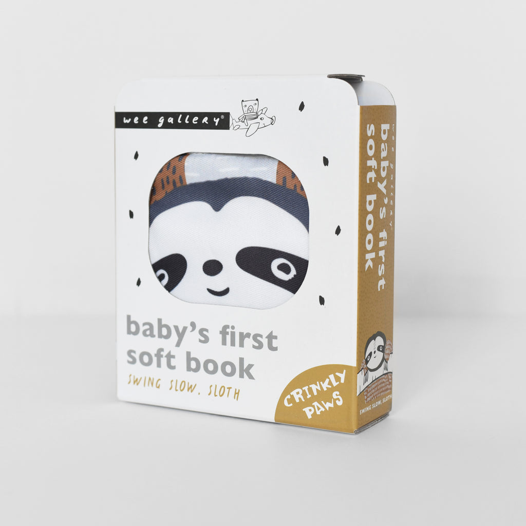 WEE GALLERY - Sloth Soft Cloth Book