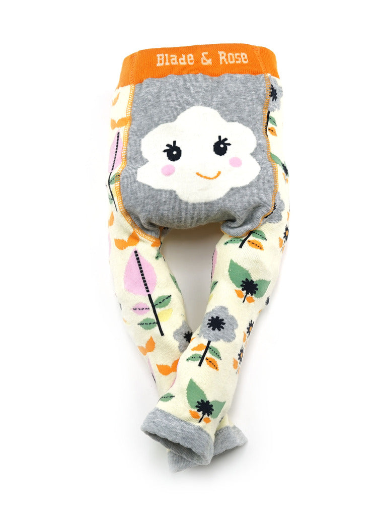 BLADE & ROSE - Baby Girls Flower Face Trouser Leggings