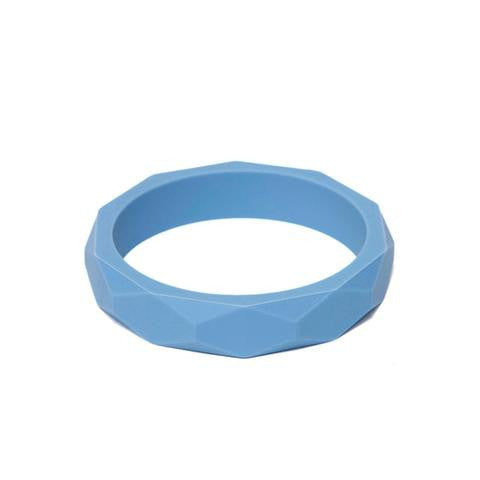 LARA AND OLLLIE - Teething Bracelet Silicone Bangle Cornflower
