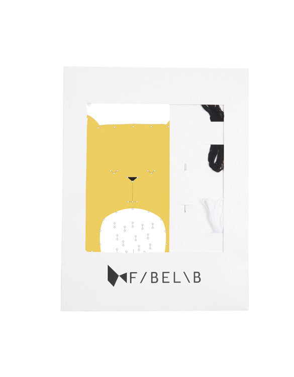 FABELAB - ANIMAL EMBROIDERY KIT - BEAR