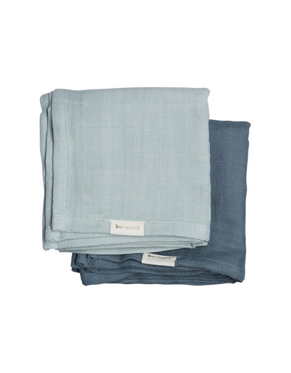 FABELAB - MUSLIN CLOTH - 2 PACK - SEA