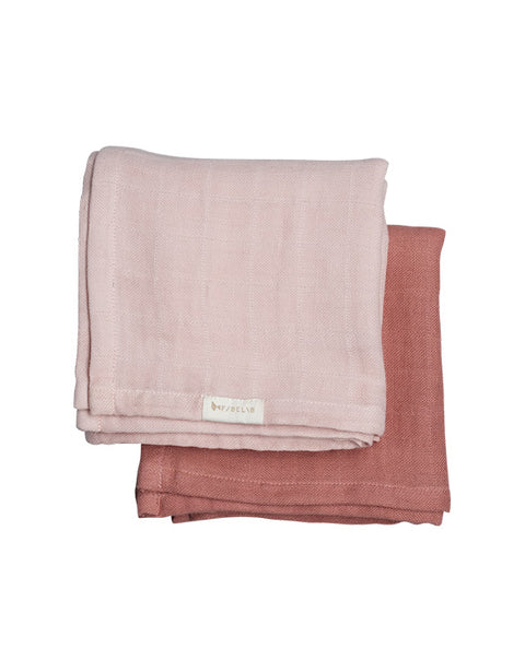 FABELAB - MUSLIN CLOTH - 2 PACK - BERRY