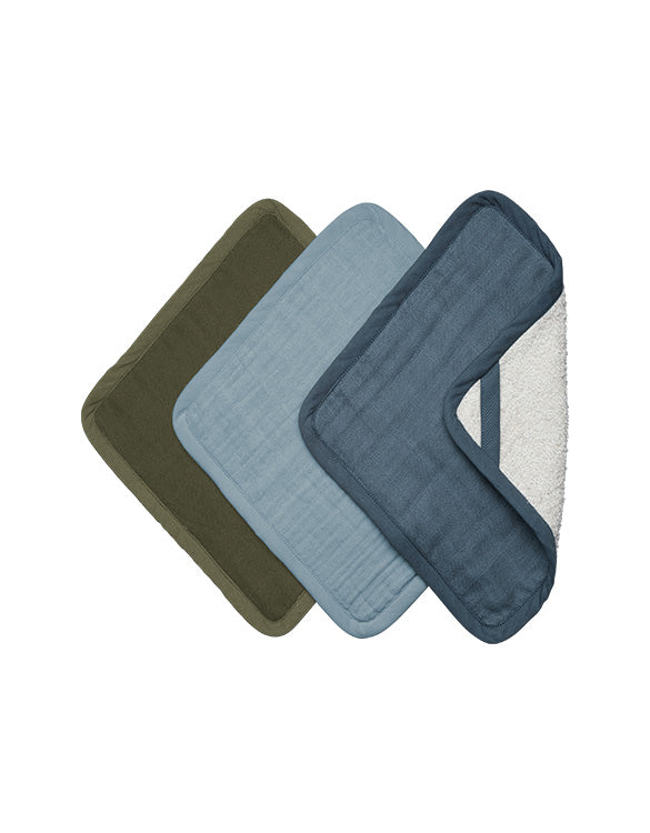 FABELAB - WASH CLOTH - 3 PACK - COASTAL