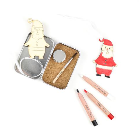 COTTON TWIST- Make Your Own Father Christmas Decoration Gift Tin