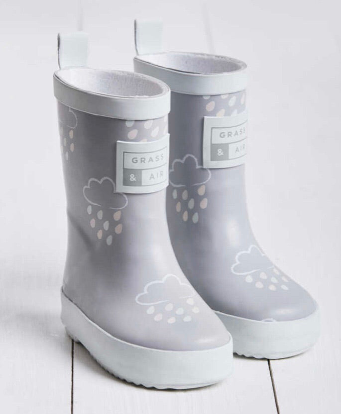 GRASS & AIR - Infant Colour Changing Wellies in Baby Grey