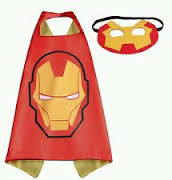 Superhero Cape and Mask -Ironman Red