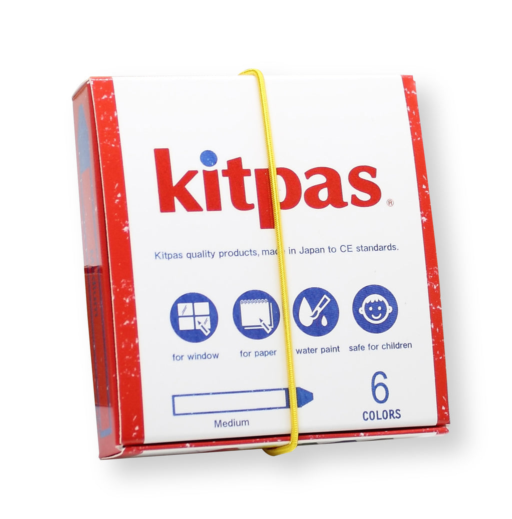 Kitpas Art Crayons - Size Medium 6-pack