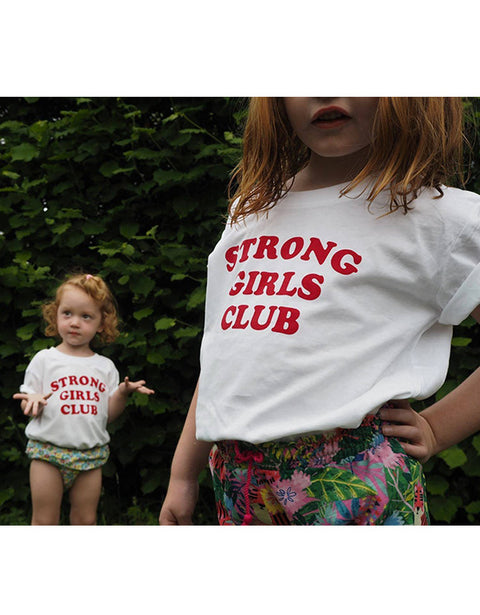 MUTHA.HOOD - Strong Little Girls Tee White (Girl)