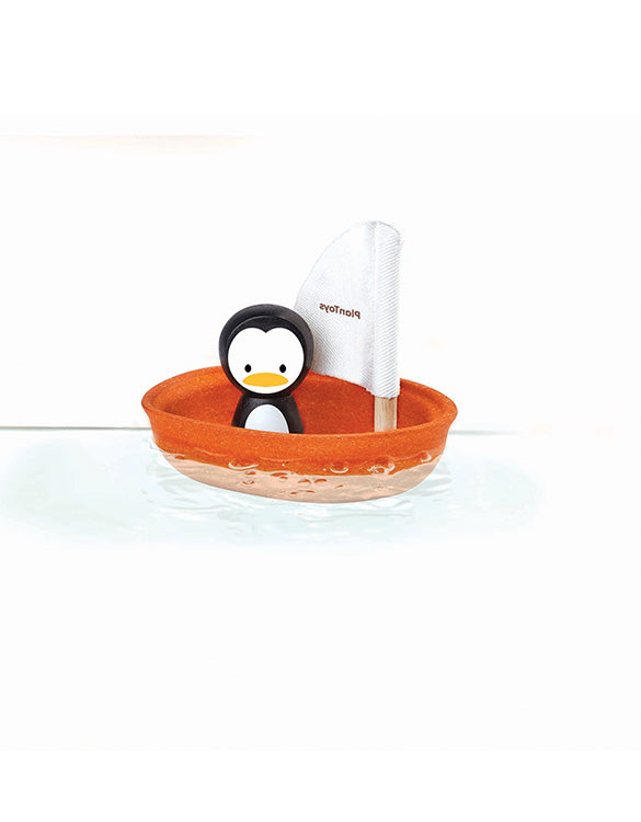 PLAN TOYS - Penguin Boat Bath Toy
