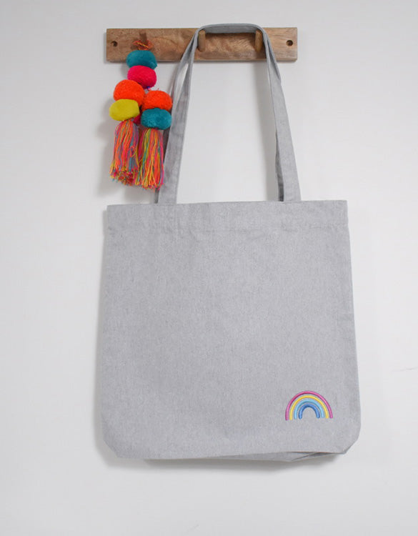 Our Kid Charity Rainbow Tote Bag - Grey