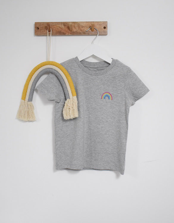 Our Kid Charity Rainbow T-Shirt - Grey