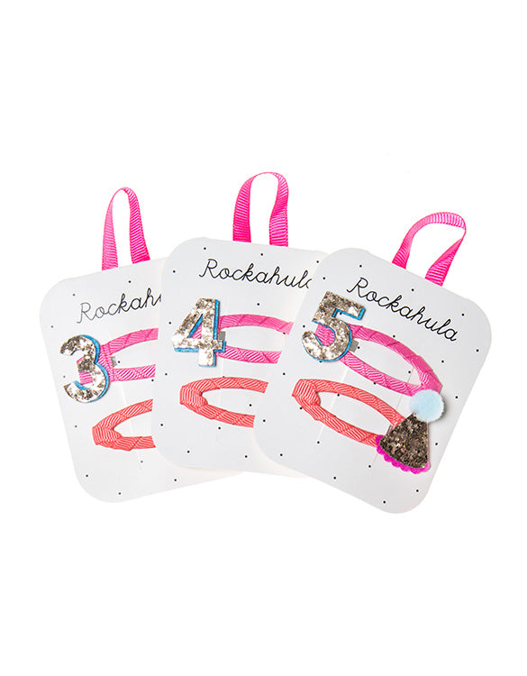ROCKAHULA - Birthday Number Hair Clips - 3/4/5