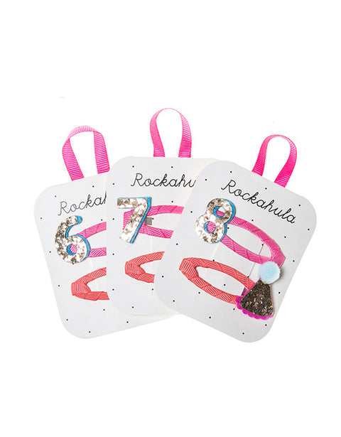 ROCKAHULA - Birthday Number Hair Clips - 6/7/8