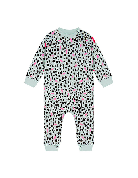 SCAMP & DUDE - Green Cheetah with Lightening Bolt Romper Sleepsuit