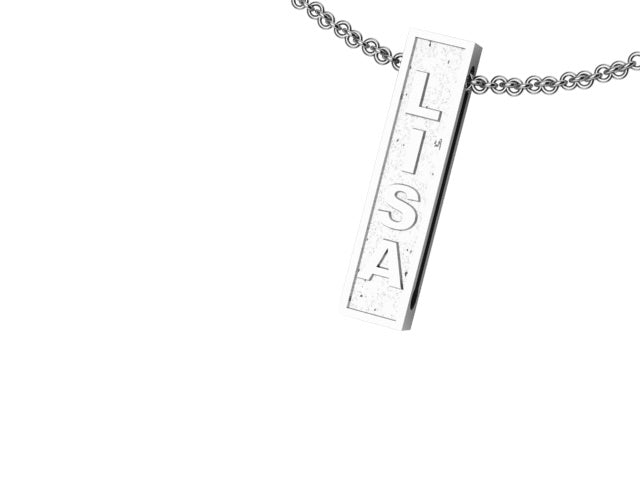 DOUBLE SIDED BAR PENDANT