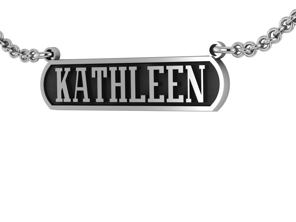 Horizontal Name Bar Pendant