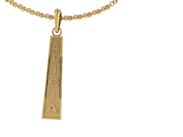Tapered Name Pendant