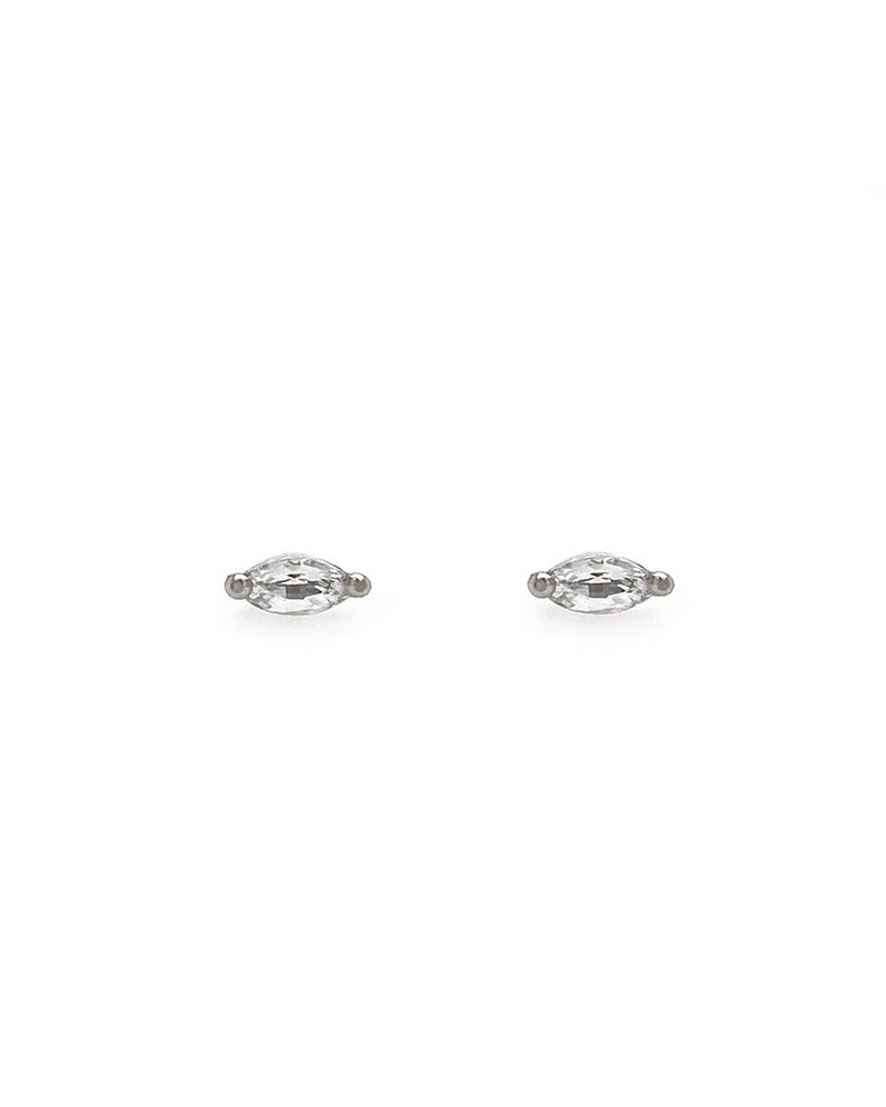 The Little Foxes Stud Earrings - White Sapphire