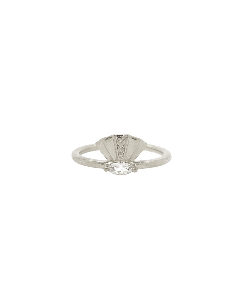 The Taylor Ring - White Sapphire