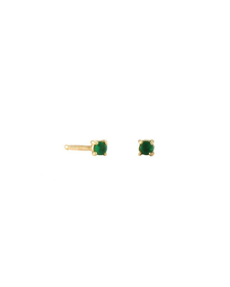 Lady Emerald Stud Earrings