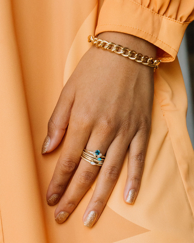 The Kelly Ring - London Blue Topaz