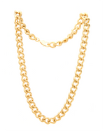 18k gold plated chunky cuban link statement chain