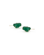 Emerald Raw Stone Earrings