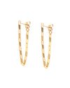 pair of 14k gold filled continuous chain earrings