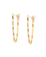 14k gold filled continuous chain earrings