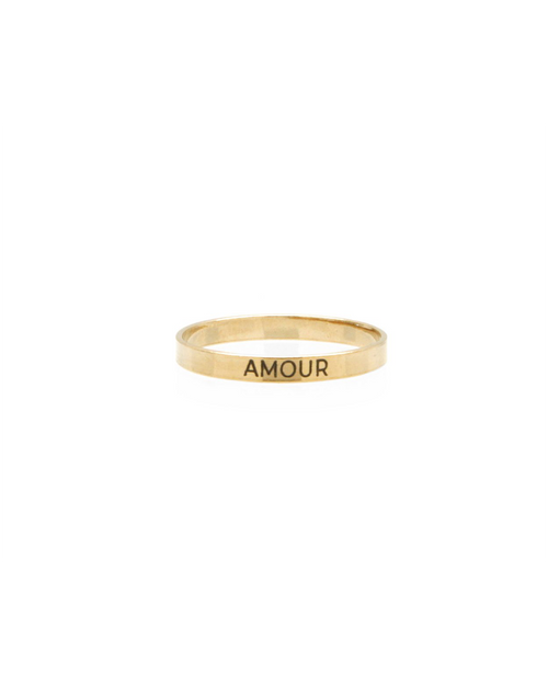 14k Gold filled thin ban engraved ring