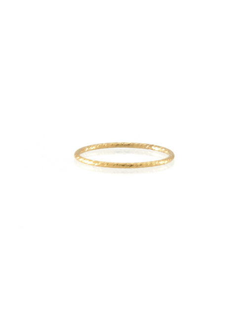 gold diamond cut textured ring