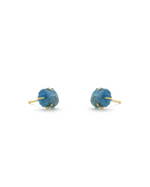 apatite raw cut raw stone stud earrings