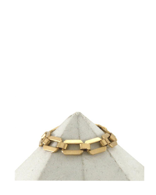 14k gold filled artisan cable chain ring